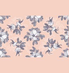 Site header blogging wild roses floral fashion vector