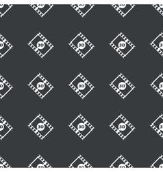 Straight black 3d movie pattern vector