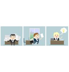 Three businessmen in office vector