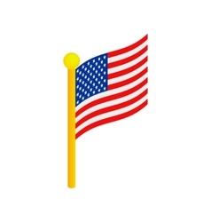 Usa flag isometric 3d icon vector
