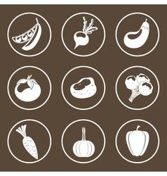 Vegetables icon design vector image vector image