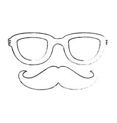 Vintage male mustache vector