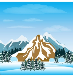 Winter in mountain vector image vector image