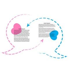 wo bubble chat contours rozovogoi tsvetas blue vector image