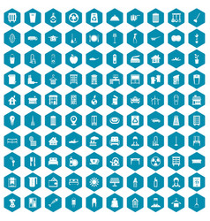 100 cleaning icons sapphirine violet vector image vector image