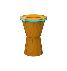African drum icon cartoon style vector