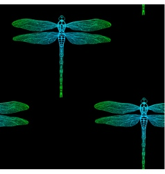 seamless pattern from gradient dragonfly vector image