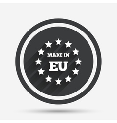 Made in eu icon export production symbol vector