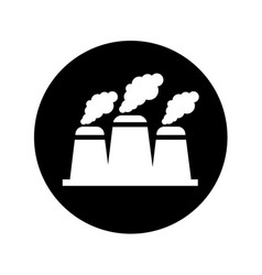 Nuclear plant chimney icon vector