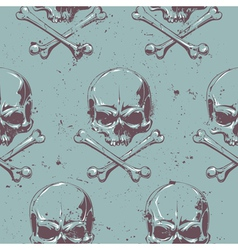 Grunge skull seamless 1 vector
