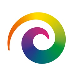rainbow spiral vector image