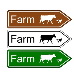 Sign farm vector