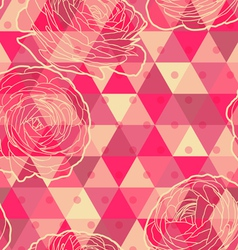 Flower geometrical seamless pattern vector