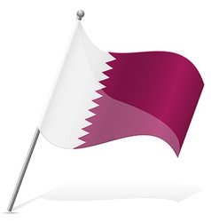 Flag of qatar vector