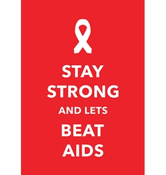 Aids poster vector