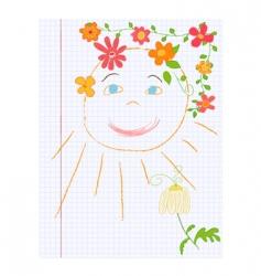 note sketch vector image