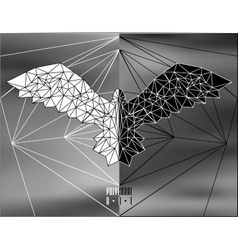 Abstract polygonal bird vector