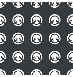 Straight black dishware pattern vector