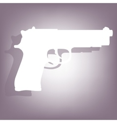 Gun icon with shadow vector