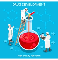 Drug development people isometric vector