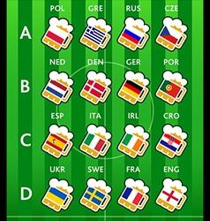 soccer team beers vector image