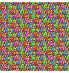 Seamless pattern of candy wrappers tails from the vector