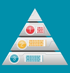 Triangle info graphic layer modern vector