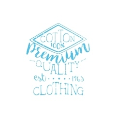 Cotton clothing vintage emblem vector