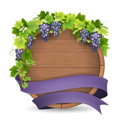 Barrel grape purple ribbon vector