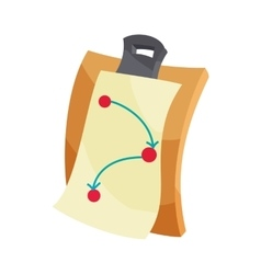 Battle plan icon cartoon style vector