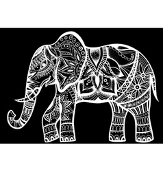 Abstract Indian ornamental elephant on a vector image