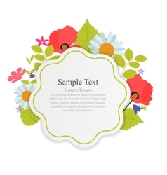 Abstract Natural Frame with Flowers and Leaves vector image vector image