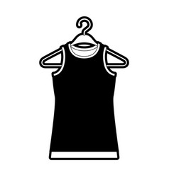 black sections silhouette of t-shirt without vector image vector image