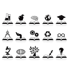 Books concept icons set vector