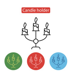 candle holder line icon vector image