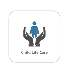 Child Life Care Icon Flat Design vector image vector image