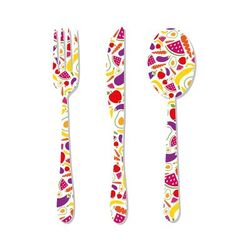cutlery with pattern vector image
