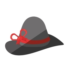 Female hat elegant isolated icon vector