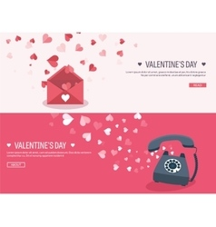 Flat background with envelope vector