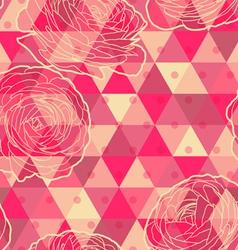 Flower geometrical seamless pattern vector image
