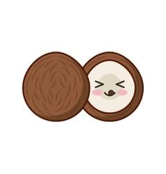 fresh fruit kawaii character isolated icon vector image vector image
