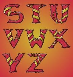 Halloween decorative alphabet part 3 vector