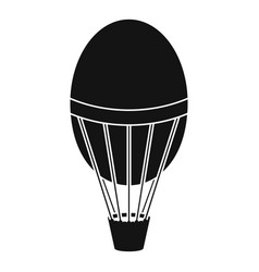 hot air balloon icon simple style vector image