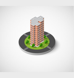 Icon of the city with isometric vector