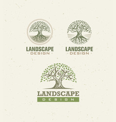 Landscape design creative concept tree vector