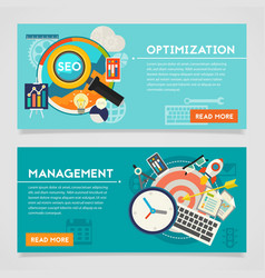 Management and Optimization Concept Banners vector image
