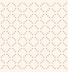 minimalist seamless pattern small dots in grid vector image vector image