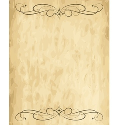 old paper sheet vector image vector image