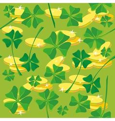 pattern clover money vector image vector image