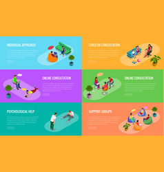 Psychological therapy concept coach and support vector